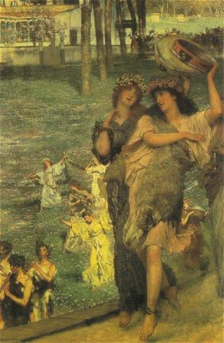 Sir Lawrence Alma-Tadema - On the Road to the Temple of Ceres-A Spring Festival