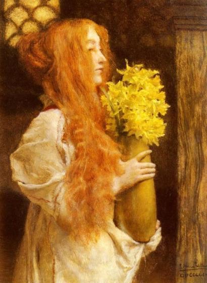 Sir Lawrence Alma-Tadema - Spring Flowers
