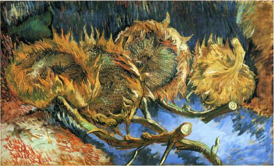 Vincent van Gogh - Still Life with Four Sunflowers