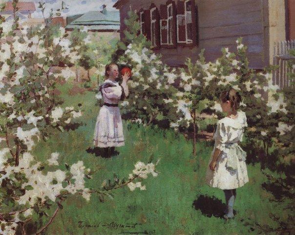 Victor Borisov-Musatov - May Flowers.