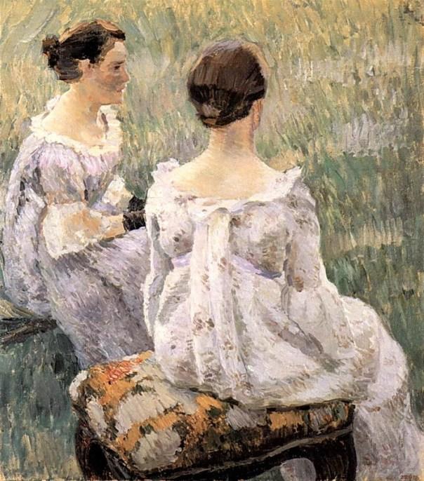 Victor Borisov-Musatov - Two Seated Women